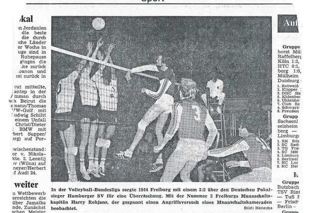 Als der deutsche Pokalsieger bei den Volleyballern der FT 1844 Freiburg strauchelte