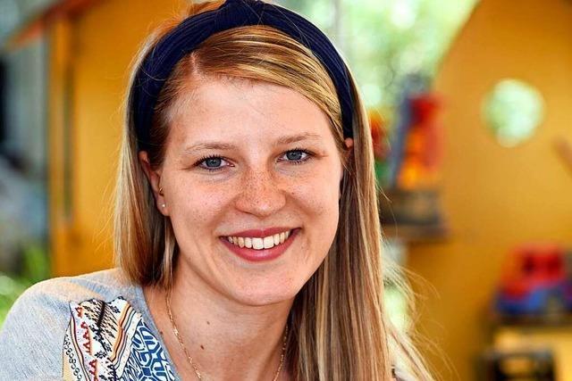 Erzieherin Laura Wolf aus Freiburg ist auch in der Krise für die Kleinsten da
