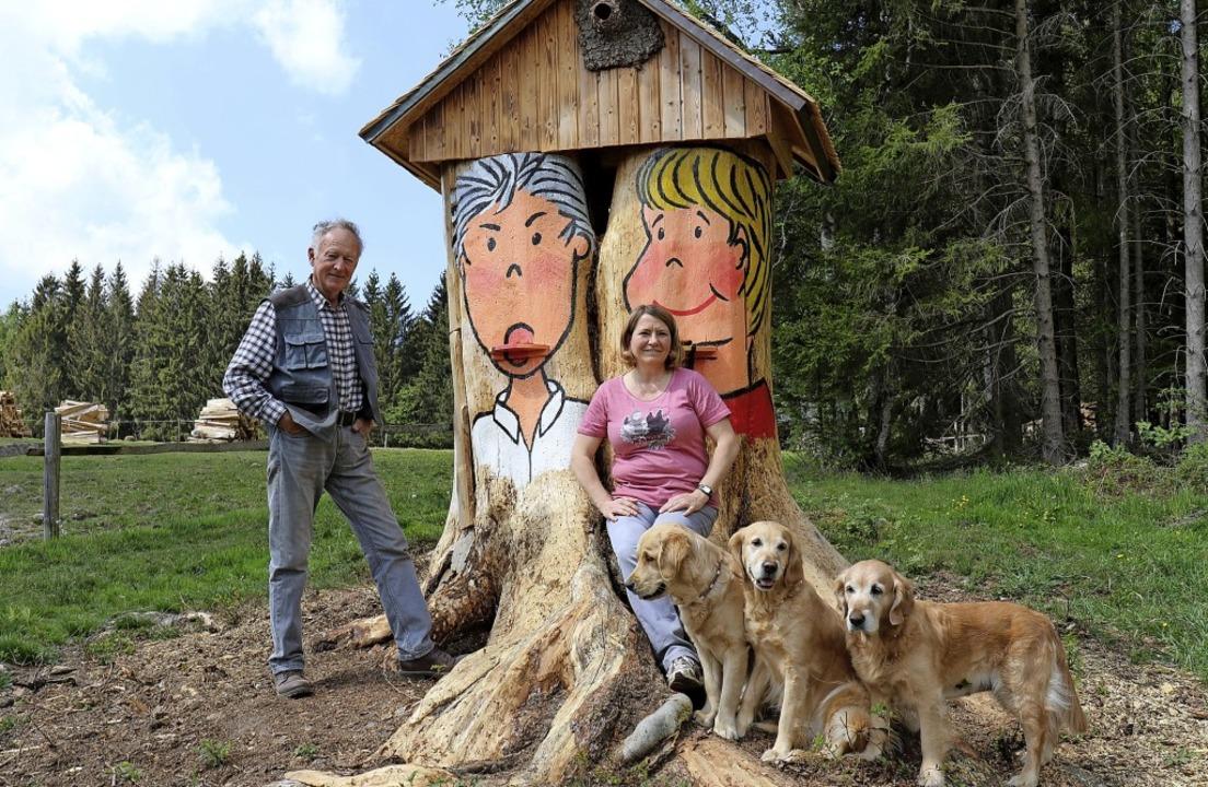 Natur und Kunst - eine Gemeinschaftspr...er, zwischen Wald und Weide in Ebnet.     Foto: Gudrun Deinzer