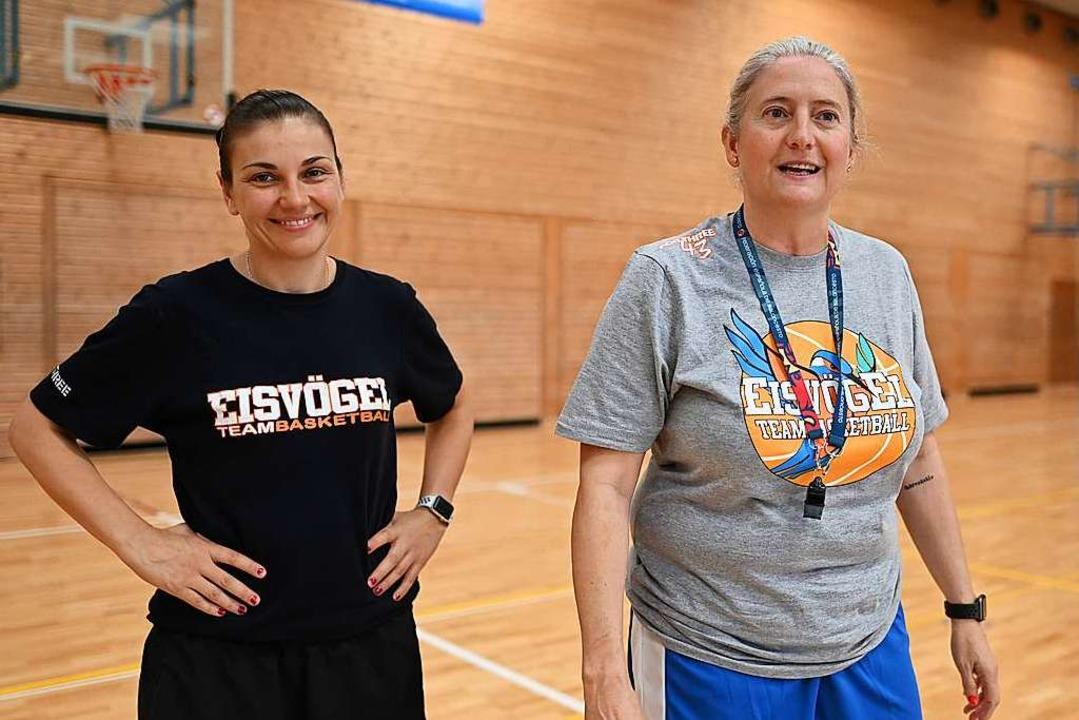 Isabel Fernandez (rechts) und Hanna Ballhaus  | Foto: Patrick Seeger