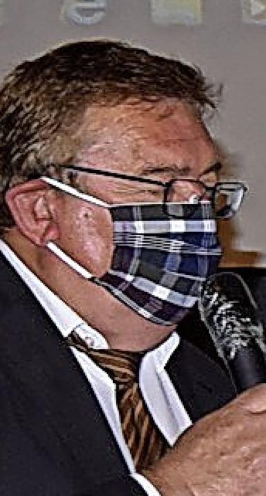 Bußhardt mit Maske<ppp></ppp>    Foto: Markus Zimmermann