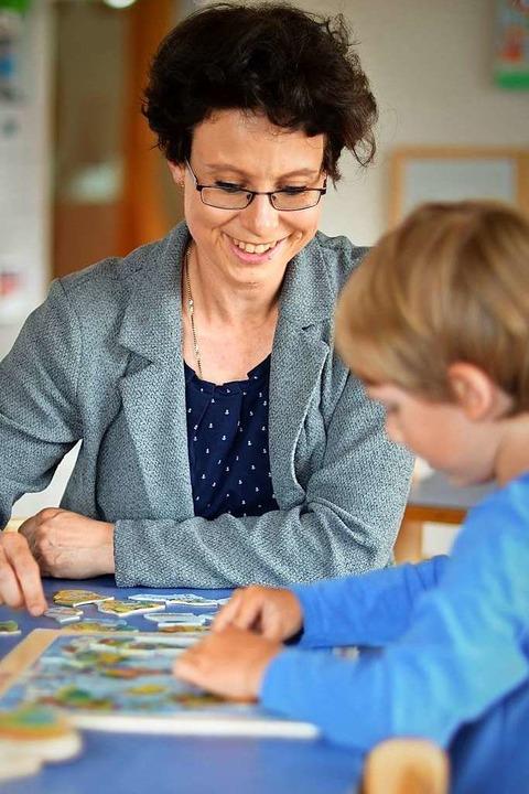 Eva-Maria Fuchs freut sich, mehr Zeit für einzelne Kinder zu haben.    Foto: Kathrin Blum