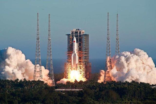 China schickt Rakete ins All, mit der Flug auf den Mars getestet werden soll