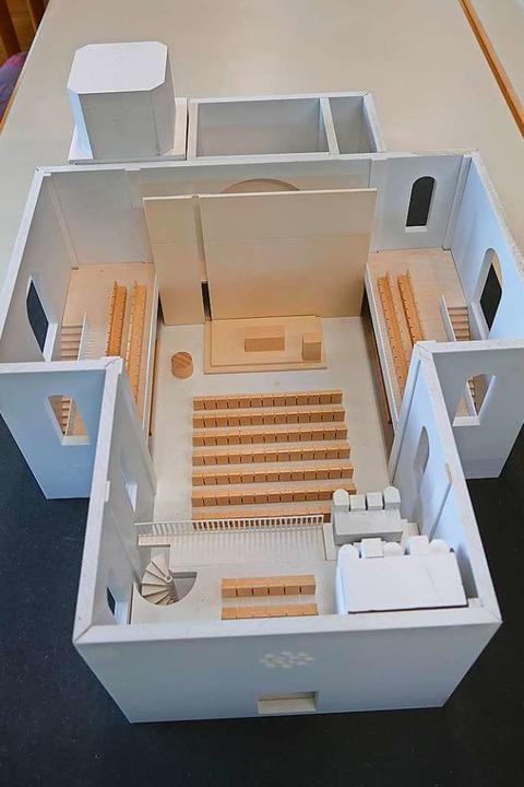 Modell des Innenraums.    Foto: Sylvia Sredniawa