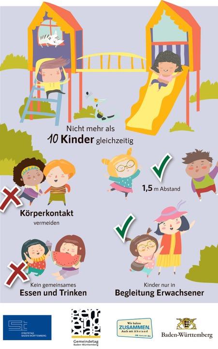Kindgerecht dargestellt: Diesen Plakat... Spielplatz an dessen Größe angepasst.    Foto: Städtetag Baden-Württemberg/www.lets-twist.de/masastarus, envato.com