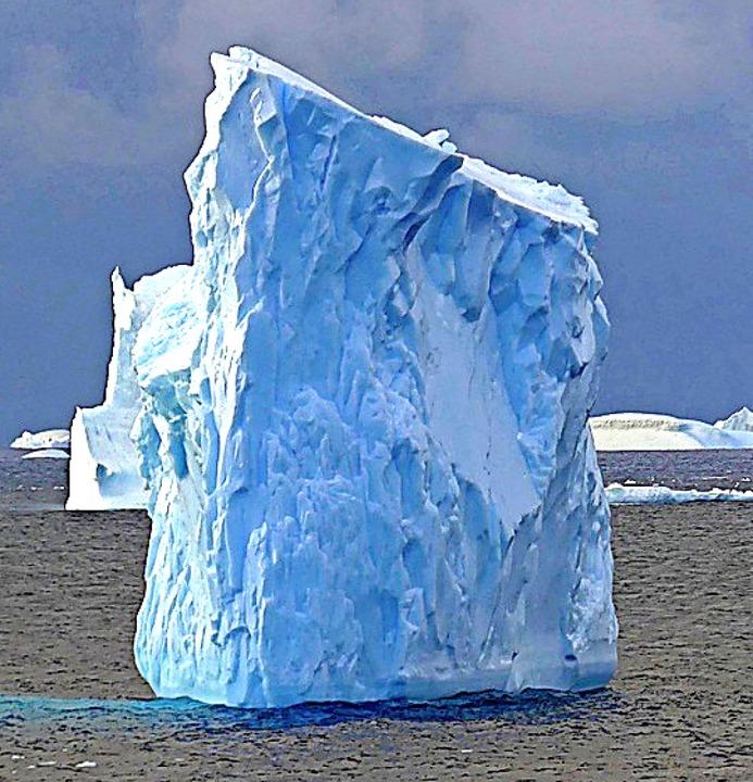Viele Eisberge sind bizarr geformt.  | Foto: Willi Germund