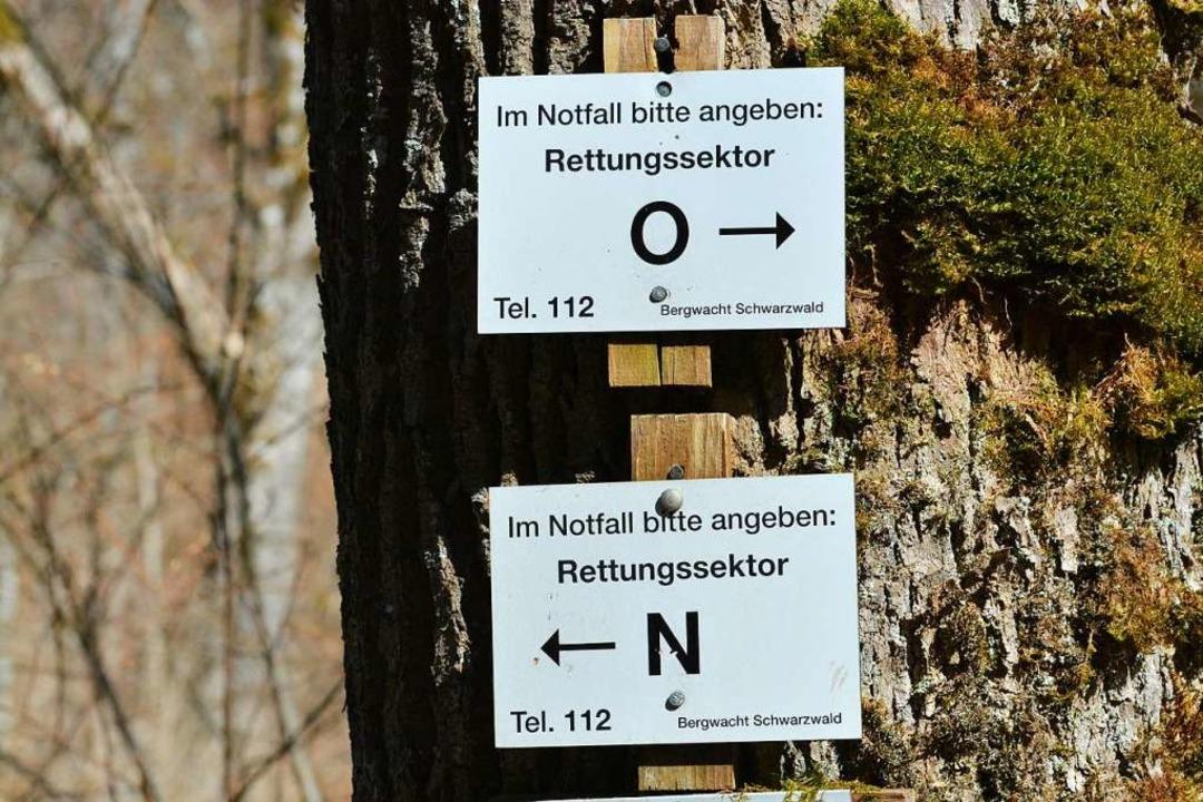 Rettungssektoren in der Wutachschlucht... konnte noch selbst den Notruf wählen.  | Foto: Martin Schwenninger
