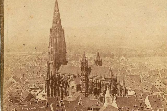 Das wohl älteste Foto des Freiburger Münsters entstand um 1863