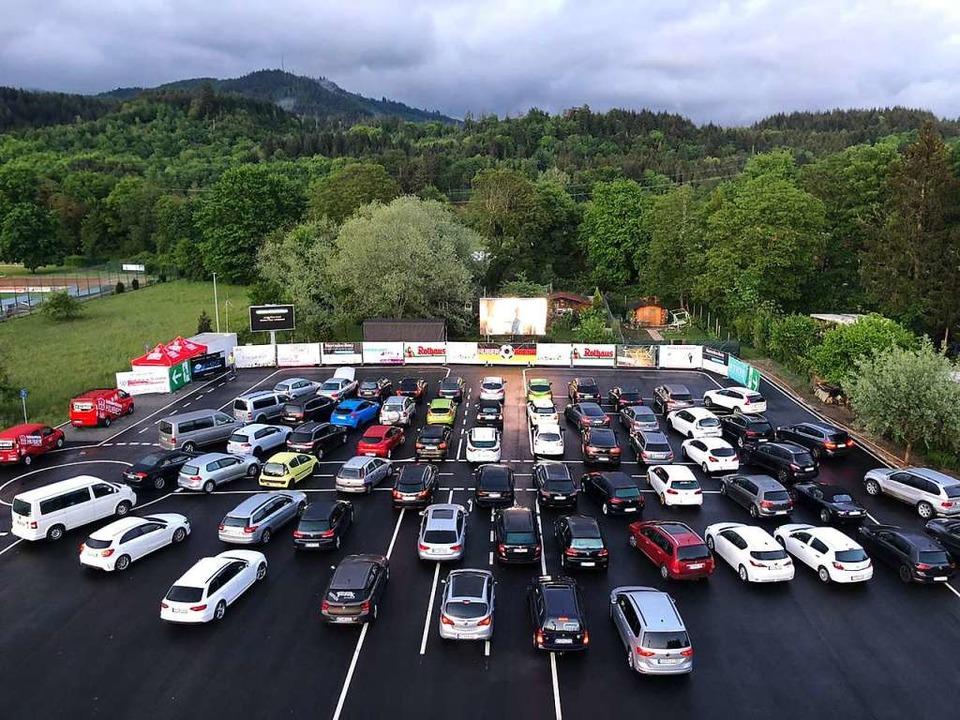 Der Blick über das Gelände des Autokin...äckingen-Wallbach am Samstagnachmittag  | Foto: privat