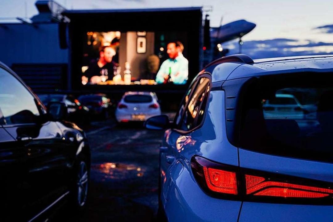 Wenn  im Autokino die Lichter aufleuch...scht sich nur die moderne Technik ein.    Foto: Uwe Anspach (dpa)