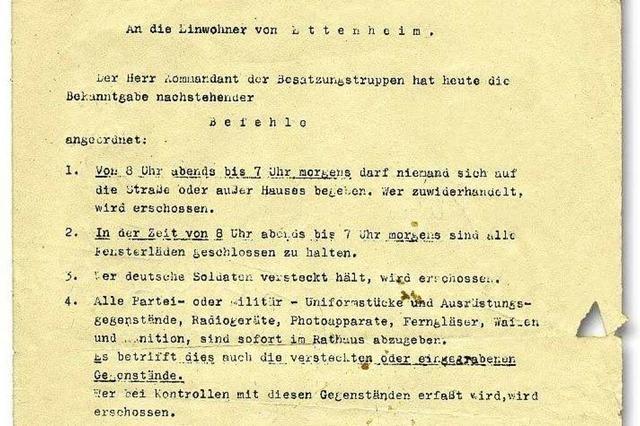 Zeitzeugin aus Ettenheim erzählt: