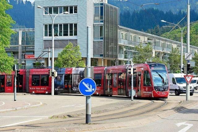 Als erstes sollen die Tramgleise in Freiburg-Littenweiler erweitert werden