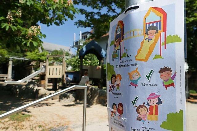 Gemeinden im Markgräflerland setzen auf Vernunft der Eltern auf Spielplätzen
