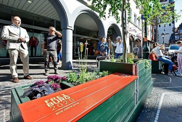 Händler schaffen grüne Inseln für Freiburgs Innenstadt