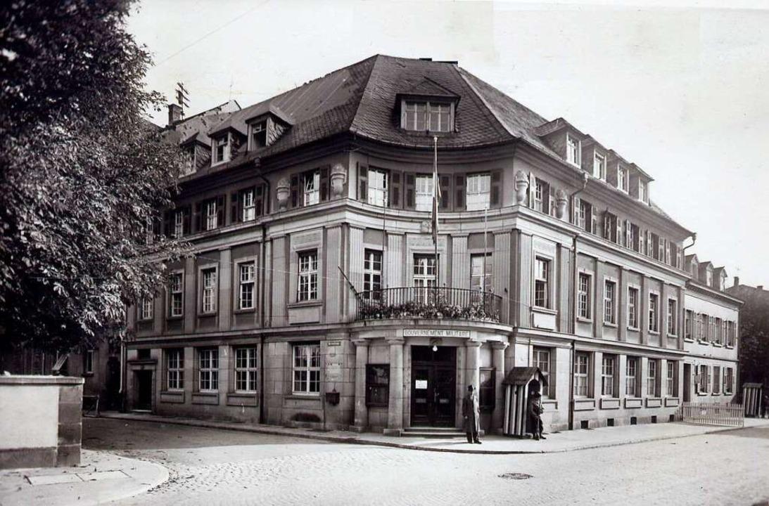Das Hauptquartier der französischen Militärverwaltung in der Schillerstraße    Foto: Stadtarchiv