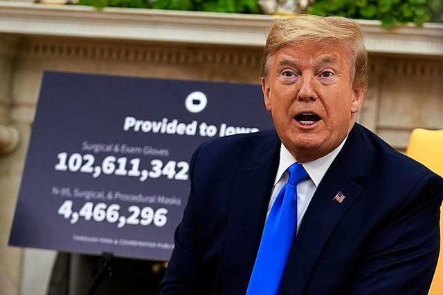 Trump stimmt Amerikaner auf Wiedereröffnung des Landes ein