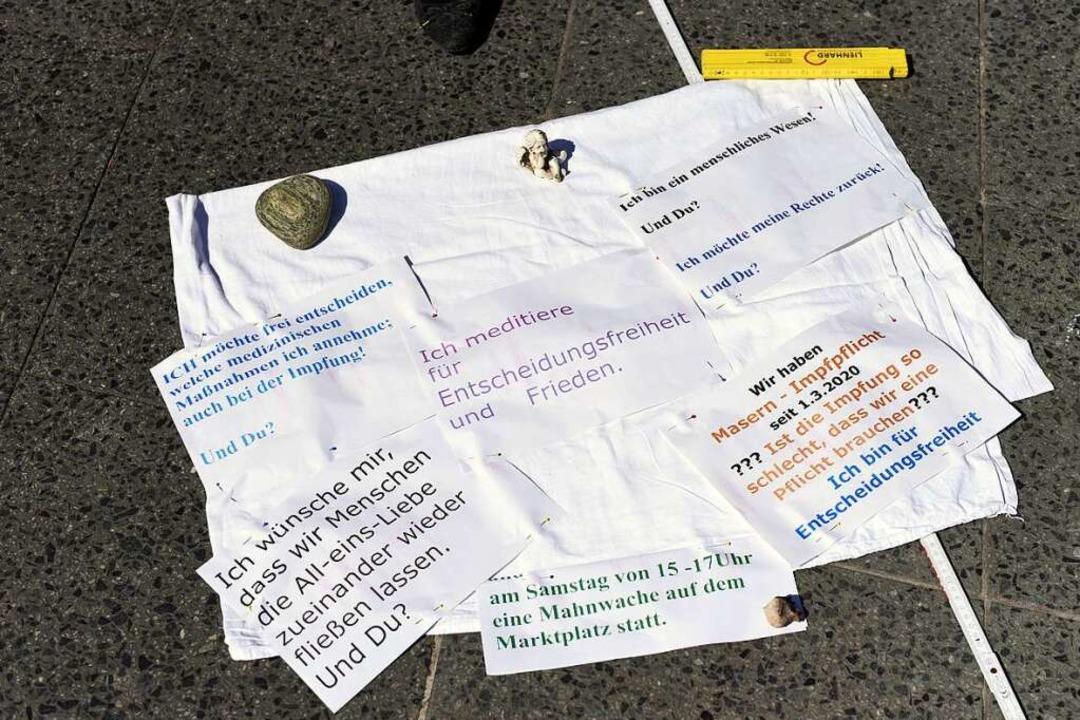 Die Forderungen von Heidrun Scheurer    Foto: Jonas Hirt