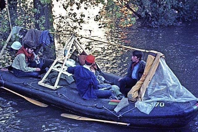 Vor 50 Jahren sind sechs Pfadis mit dem Schlauchboot von Kehl nach Köln gefahren