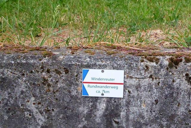 Heimatverein schildert neuen Weg um Windenreute aus