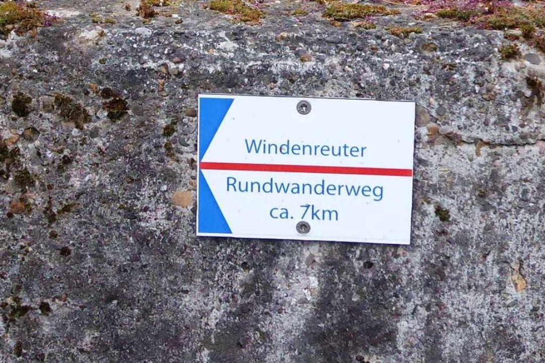 So sieht die Markierung des Weges aus.  | Foto: Sylvia-Karina Jahn
