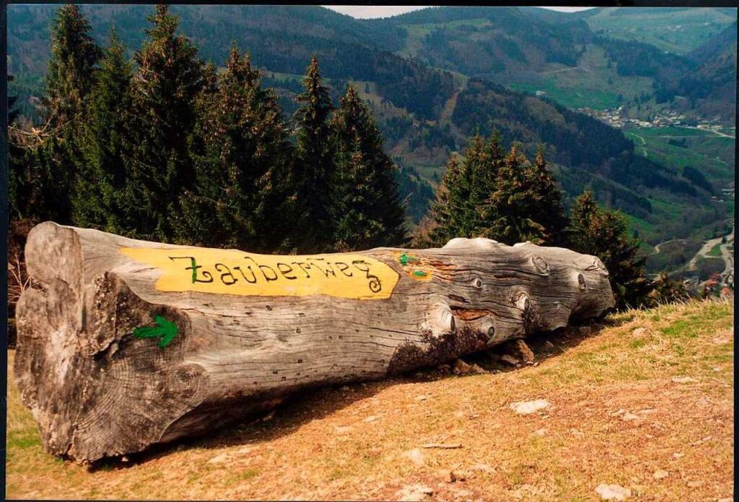 Nahe der Bergstation startet der Zauberweg.  | Foto: Marlies Jung-Knoblich