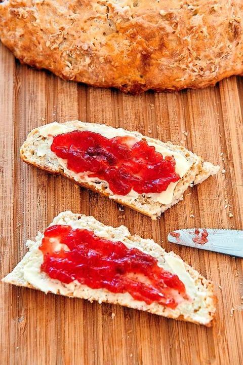 Mit Marmelade bestrichen, stillt die s...ichen Isolation ein wenig das Fernweh.  | Foto: Thomas Schneider