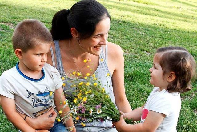 Kinder gratulieren auch in Lahr zum Muttertag