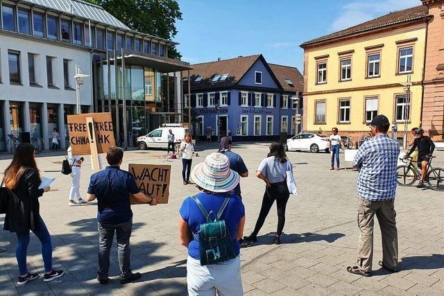 Zweite Demo für Grundrechte auf dem Lahrer Rathausplatz