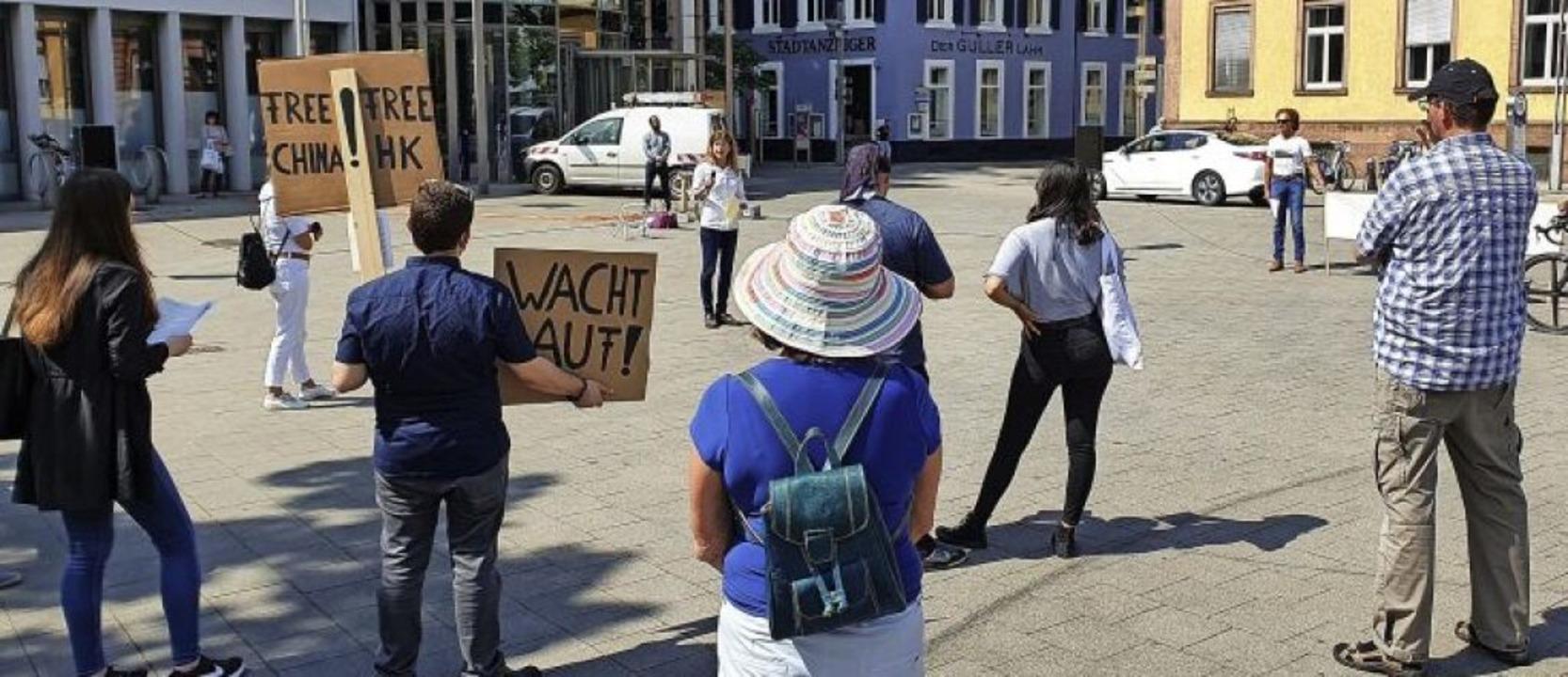 Die Lahrer Osteopathin Anette Franz (h...itte) organisierte die Demonstration.   | Foto: Karl Kovacs