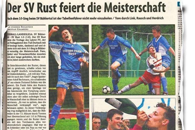 Als der SV Rust als Landesliga-Meister in die Verbandsliga aufstieg