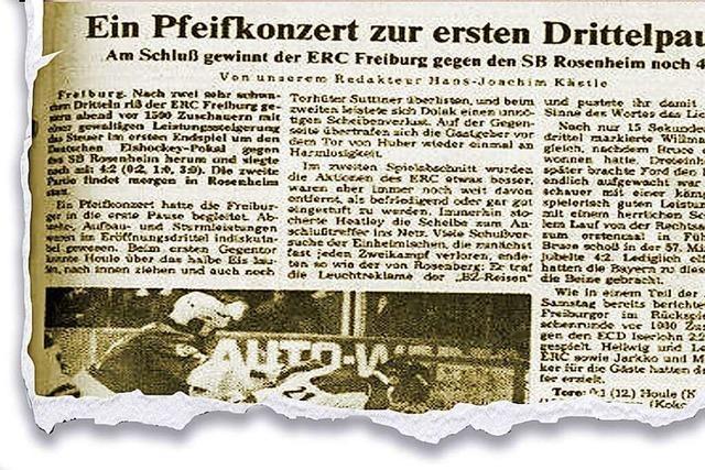 Als der ERC Freiburg den DEB-Pokal im Eishockey gewann und danach in Konkurs ging