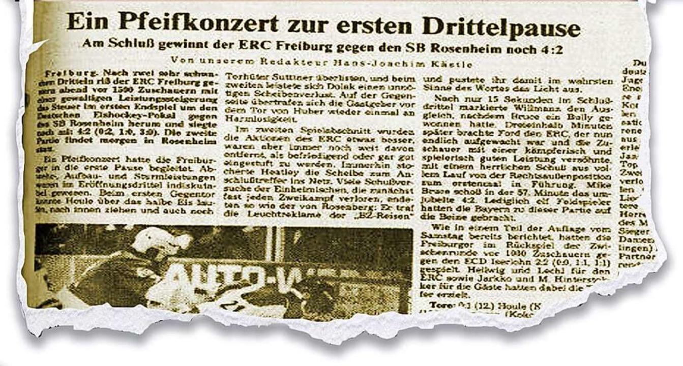 Am 13. Februar 1984 berichtete die Bad...Zeitung vom ersten Finale in Freiburg.  | Foto: BZ-Archiv