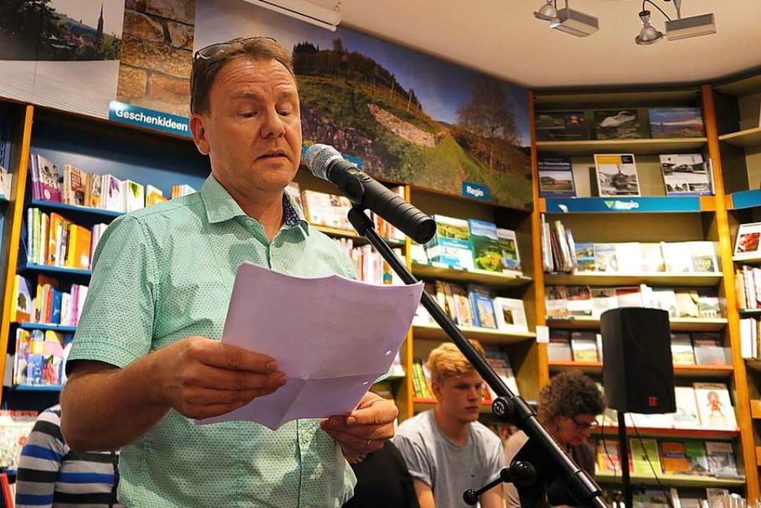 Harald Gritzner bei einer Lesung (Archivbild)  | Foto: Dorothee Philipp