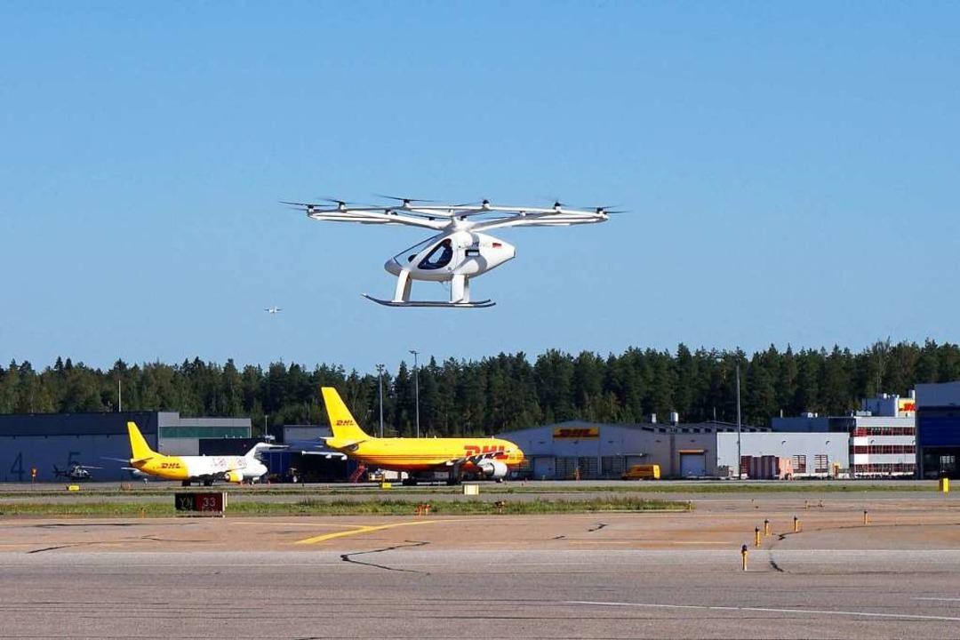 Das Volocopter-Modell 2X wird auch im finnischen Helsinki getestet.  | Foto: V. Kollwig