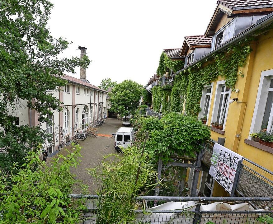 Auf dem Areal der ehemaligen Grether-F...m Rahmen des Stadtjubiläums entstand.   | Foto: Ingo Schneider