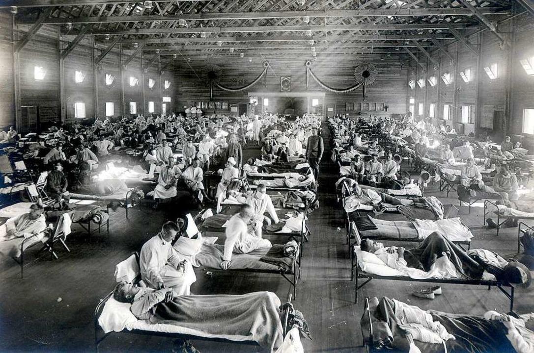 Zwischen 27 und 50 Millionen Menschen ...n der Spanischen Grippe erkrankt sind.  | Foto: - (dpa)