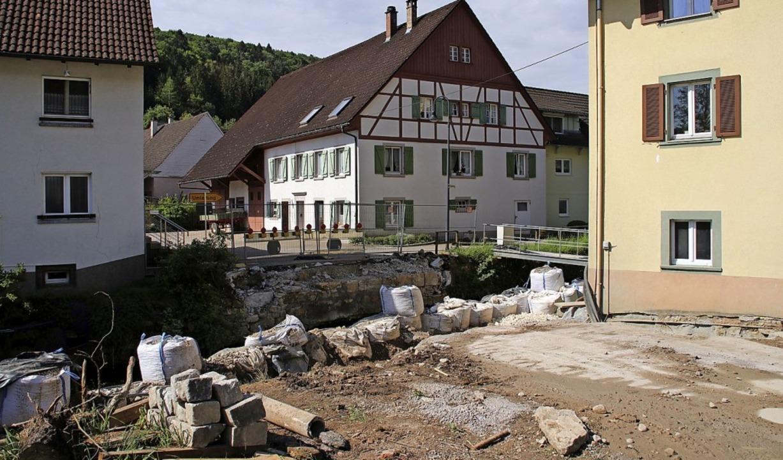 Der Neubau der Brücke über den Ehrenba... im Haushalt 240000 Euro eingestellt.     Foto: suedkurier