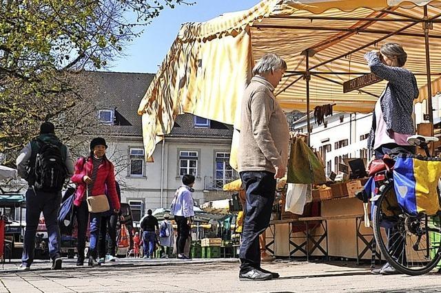 Auf dem Schopfheimer Wochenmarkt herrscht ab Samstag Maskenpflicht