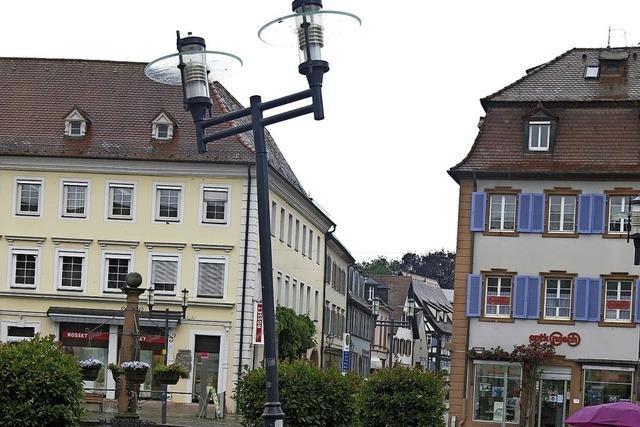 Neue Leuchten für den Marktplatz