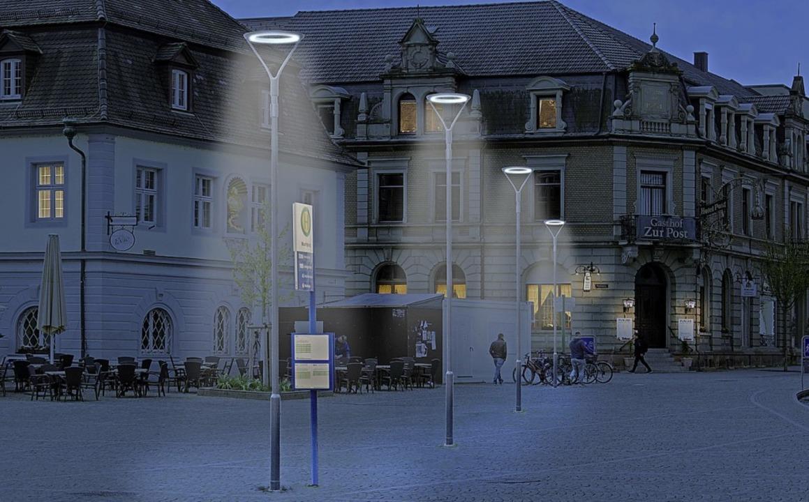 Das neue Lampenmodell ist mit LED -Birnen bestückt.   | Foto: Stadtwerke Emmendingen