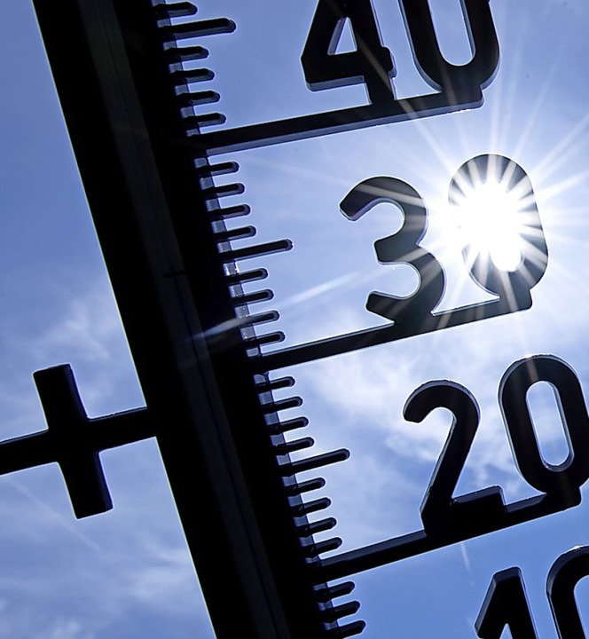 Die Temperatur in der Bachheimer Wette...zeit in der ARD  nicht mehr zu sehen.   | Foto: Sven Hoppe (dpa)