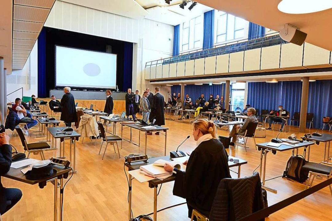 Für das Hans-Bunte-Verfahren wird der ...he Paulus-Saal jetzt zum Gerichtssaal.  | Foto: Ingo Schneider