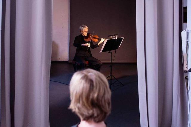 Musiker des SWR-Symphonieorchester spielen Ein-Personen-Konzerte