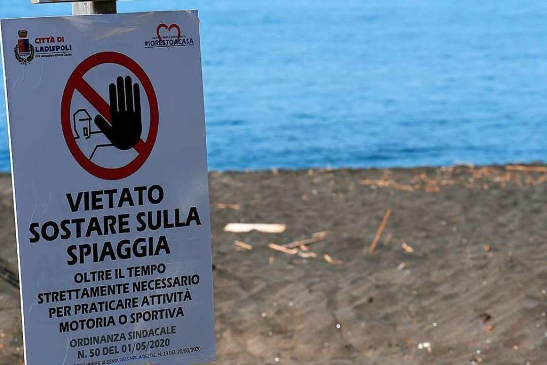 Derzeit noch für Einheimische und Ausl...oten: Urlaub an den Stränden Italiens.  | Foto: Alberto Lingria
