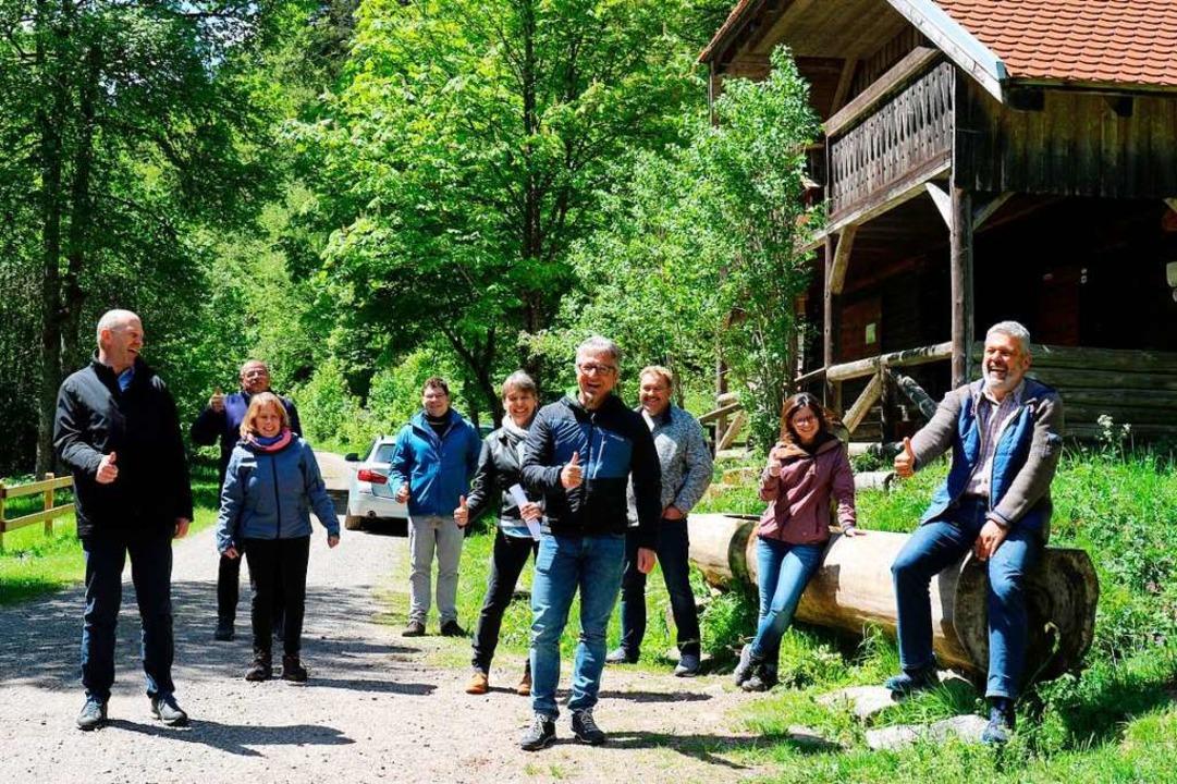 Freude über Backbone-Zusammenschluss  ...sserschmid, Michael Scharf (Bonndorf).  | Foto: Gudrun Deinzer