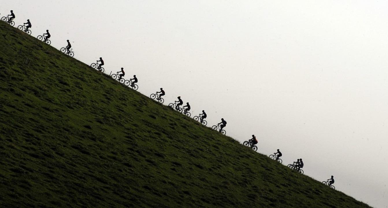 Steil bergauf dicht an dicht zu radeln, ist in Corona-Zeiten nicht zu machen.    | Foto: Patrick Seeger