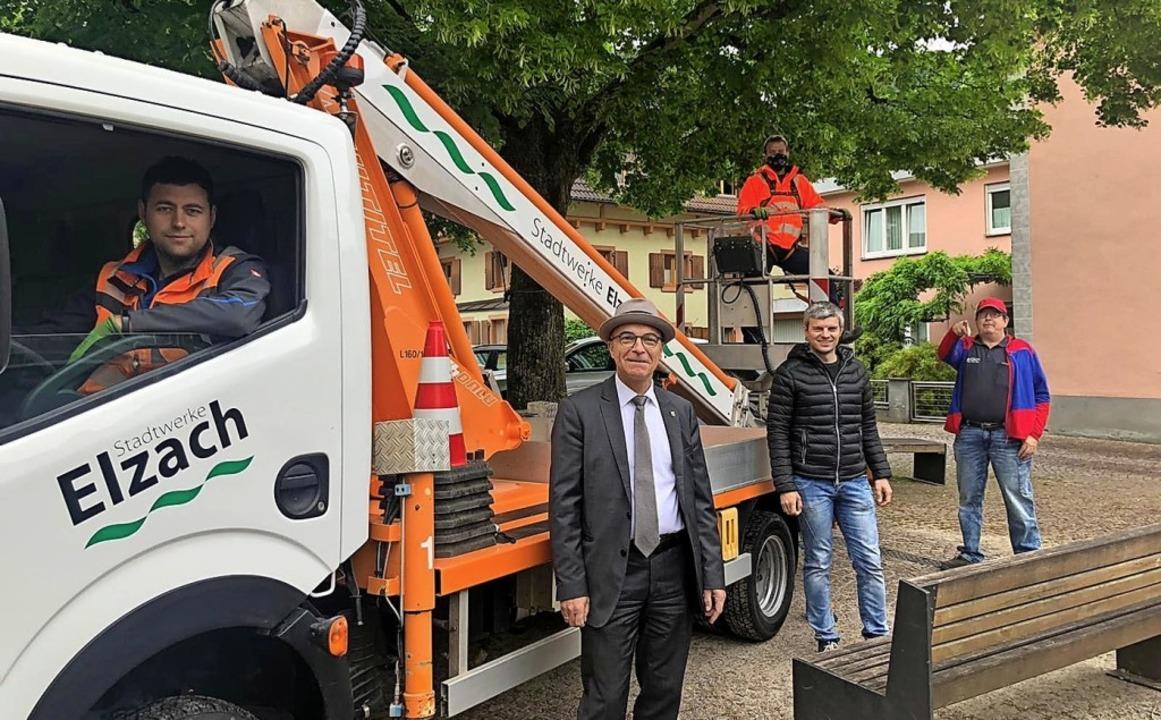 Ein neues Fahrzeug beziehungsweise Arb...twerke in Elzach jetzt einsatzfähiger.  | Foto: Stadt Elzach