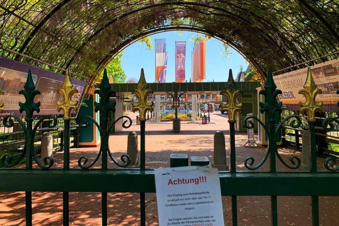 Noch ist der Europa-Park geschlossen.  | Foto: Frank Zimmermann