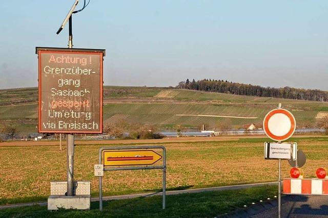 Grenze bei Sasbach könnte schon bald wieder öffnen