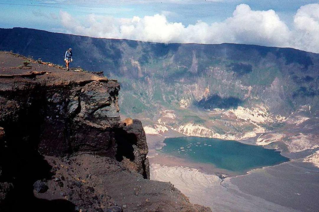 Am Vulkan Tambora ereignete sich die g...te, soweit das historisch fassbar ist.    Foto: epa URI